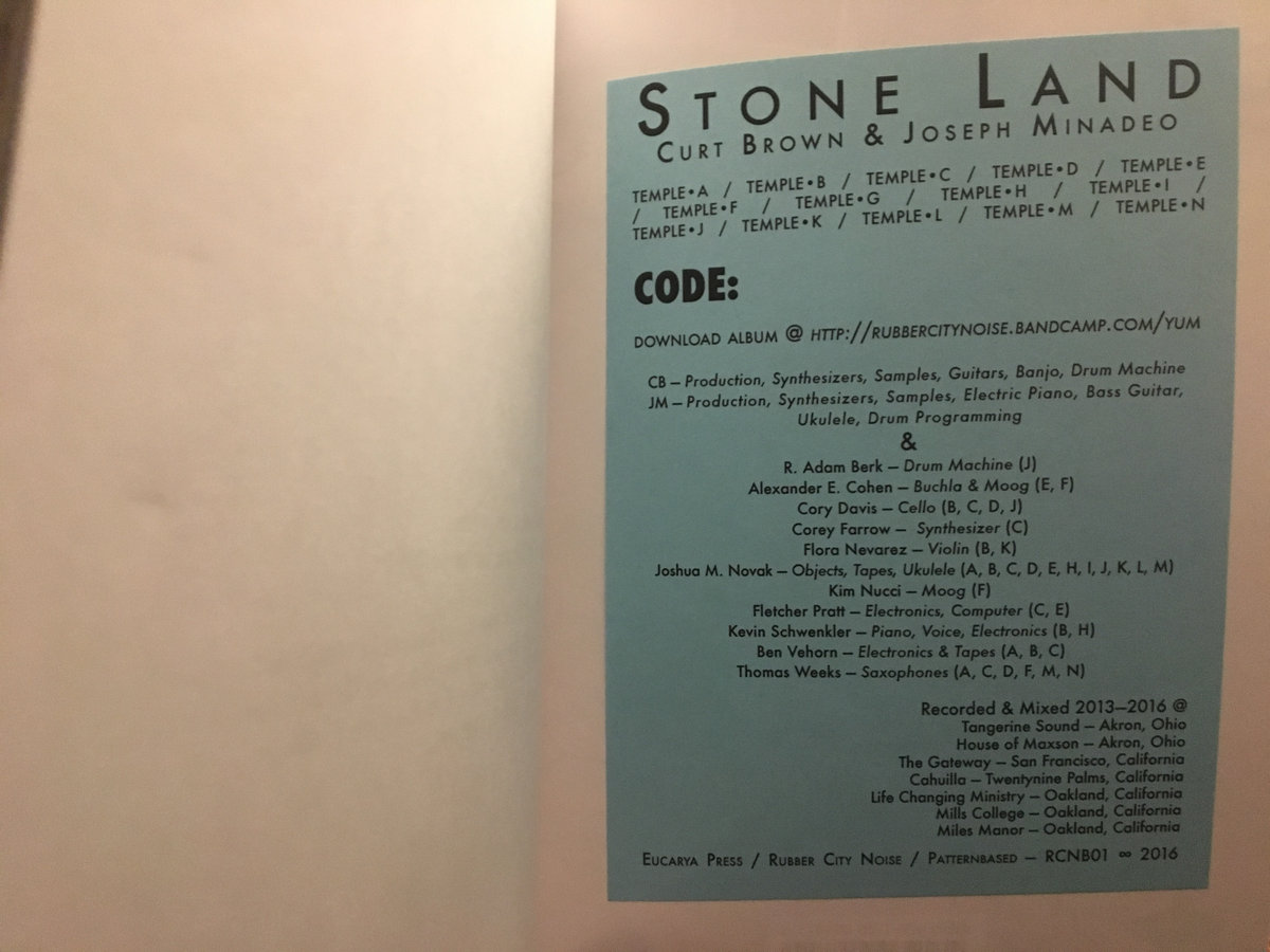 stone land book credits
